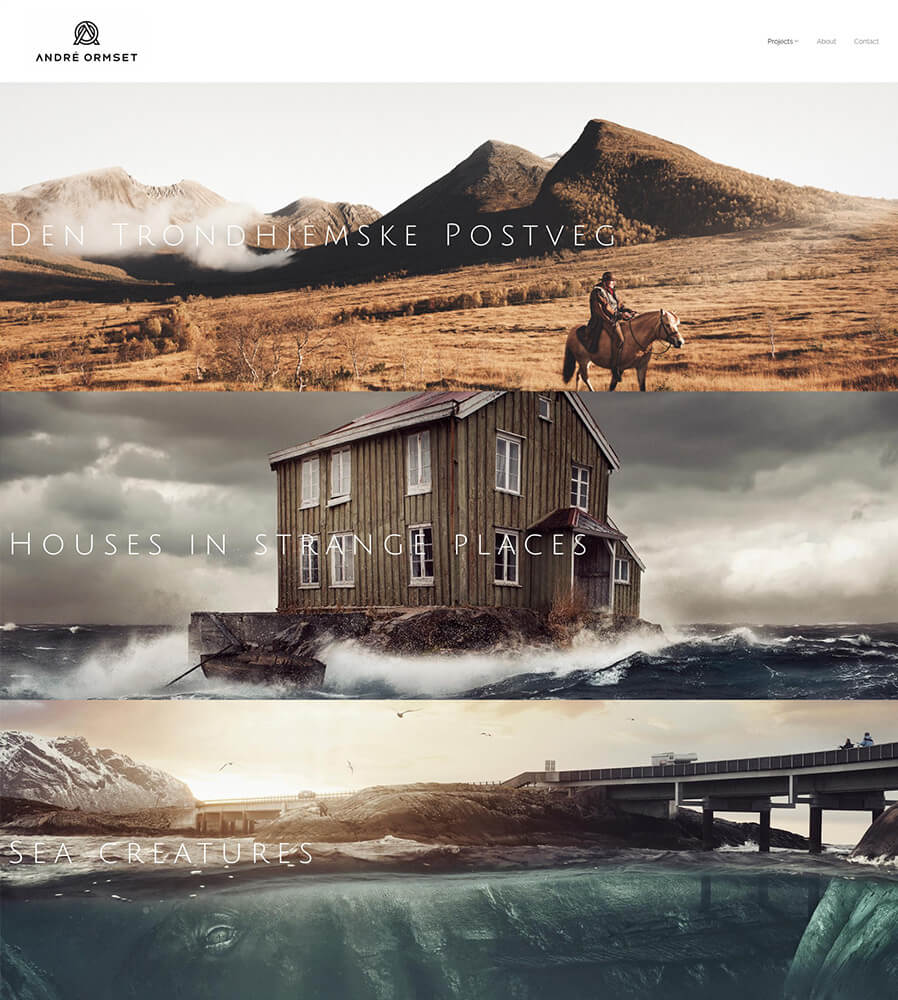 Andre Ormset Portfolio Website Examples