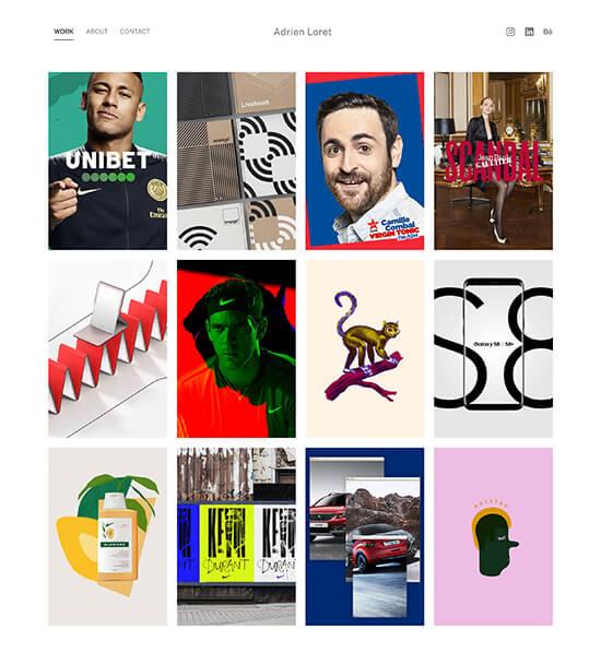Adrien Loret Portfolio Website Examples