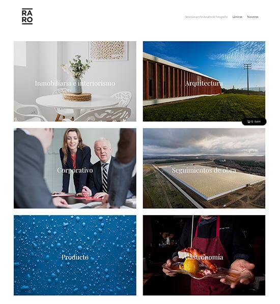Raro Foto Portfolio Website Examples