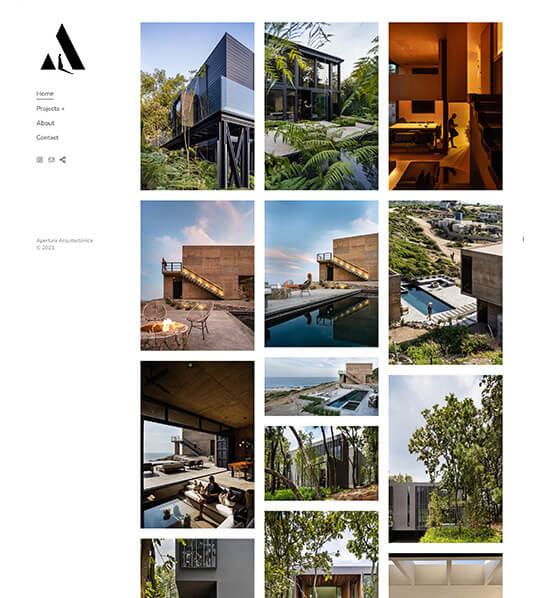 Apertura Arquitectonica Portfolio Website Examples