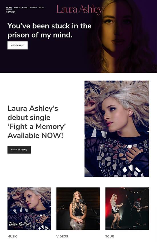Laura Ashley Portfolio Website Examples