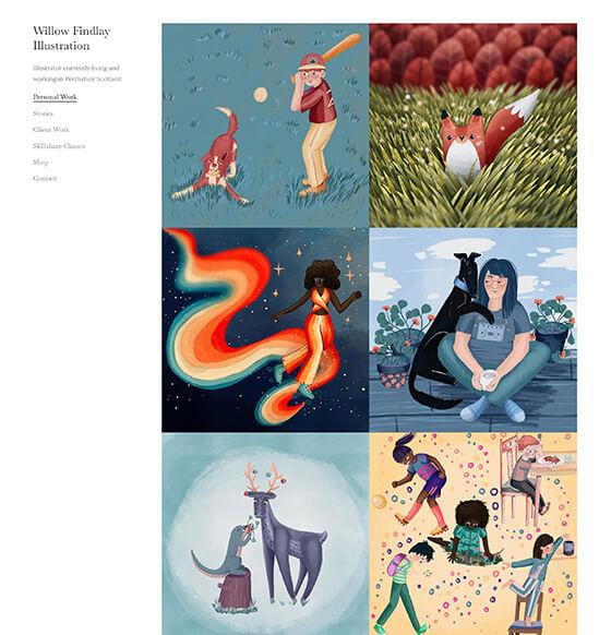 Willow Findlay Portfolio Website Examples