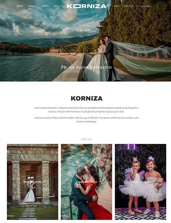 Korniza  Portfolio Website Examples