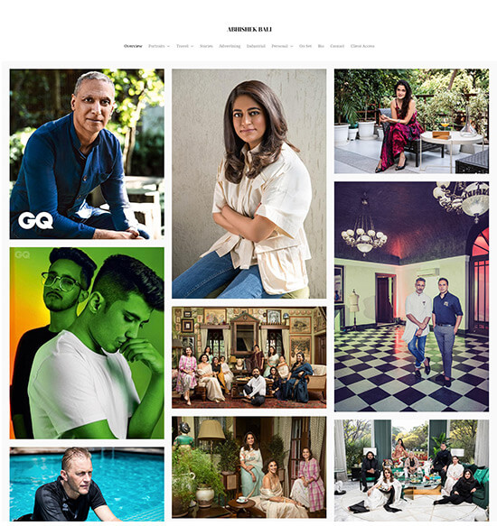 Abhishek Bali Portfolio Website Examples