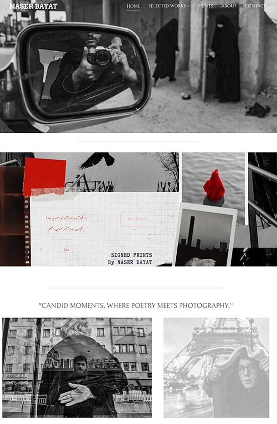 Naser Bayat Portfolio Website Examples