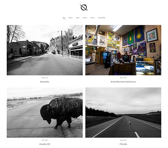 Cooper Hammel - Vagabond Series Portfolio Website Examples