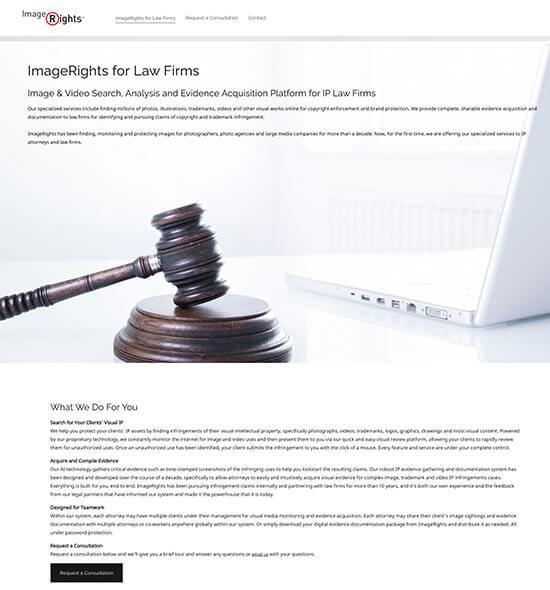 Image Rights Portfolio Website Examples