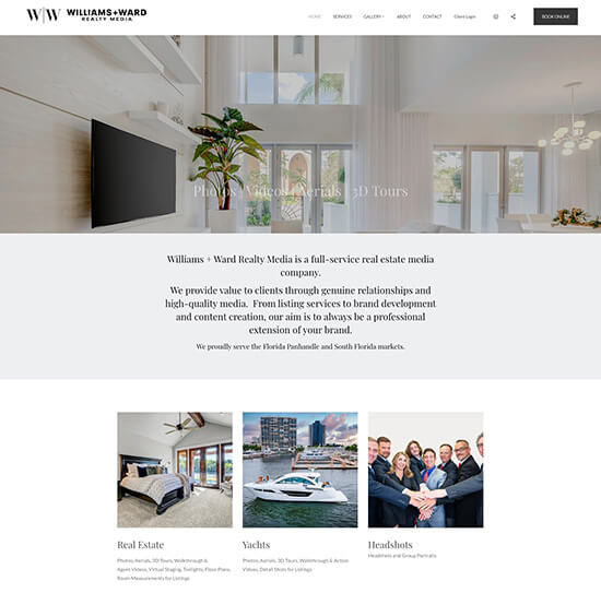 Williams + Ward Realty Media Portfolio Website Examples