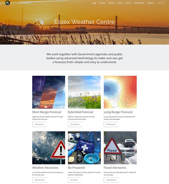 Essex Weather Centre Portfolio Website Examples