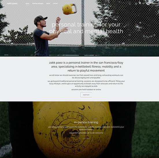 Zakk Paez Portfolio Website Examples