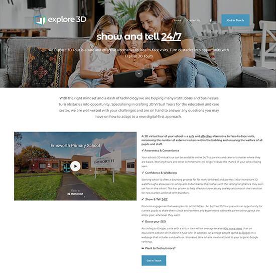 Explore 3dtours Portfolio Website Examples