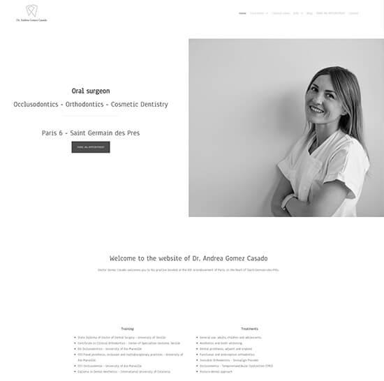 Dr. Andrea Gomez Casado Portfolio Website Examples