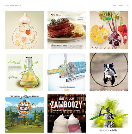 Brian Maclaren Portfolio Website Examples
