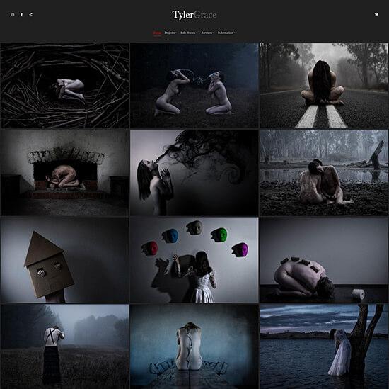 Tyler Grace Portfolio Website Examples