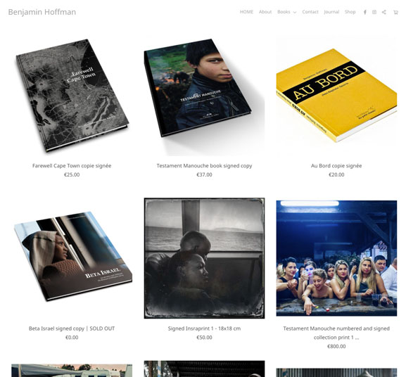 Benjamin Hoffman Portfolio Website Examples