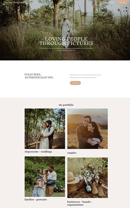 Lucy Anne Portfolio Website Examples