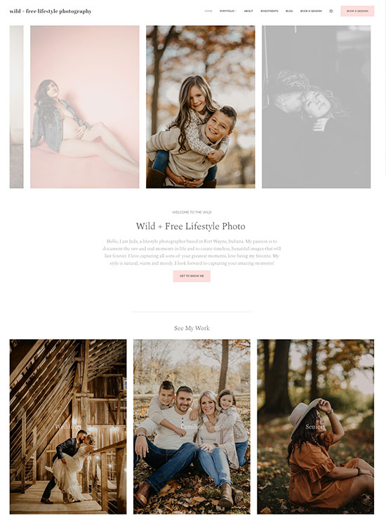 Jada Carpenter Portfolio Website Examples