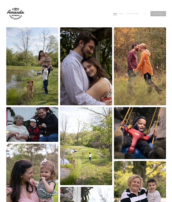 Amanda Reymers Portfolio Website Examples