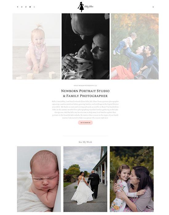 Ashley Wilbur Portfolio Website Examples