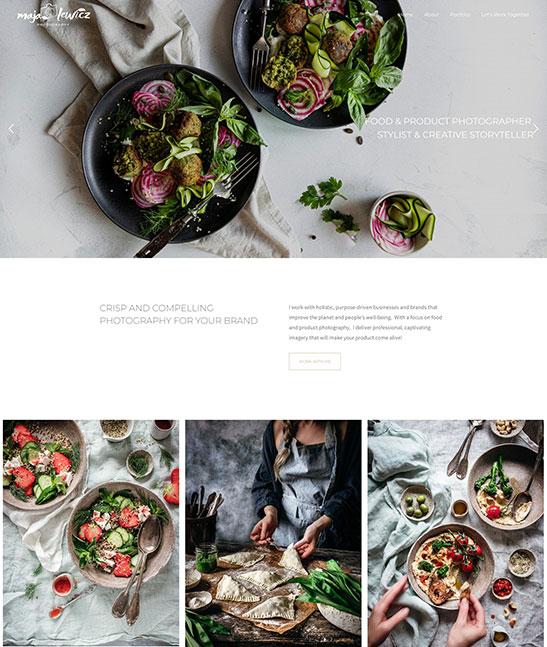 Maja Lewicz Portfolio Website Examples