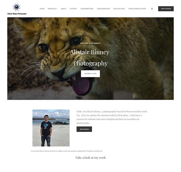 Alistair Binney Portfolio Website Examples