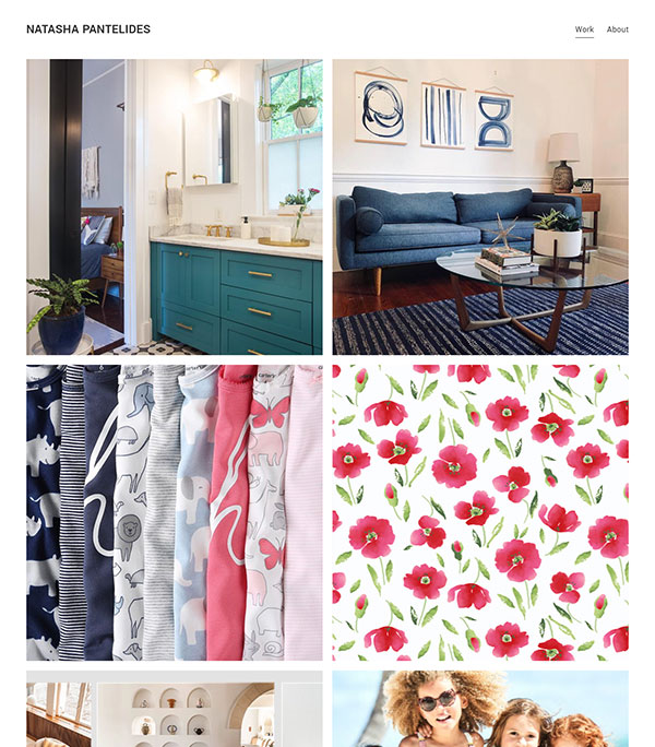 Natasha Pantelides Portfolio Website Examples