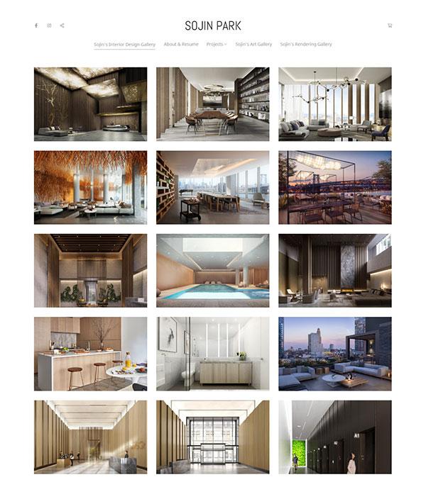 Sojin Park Portfolio Website Examples