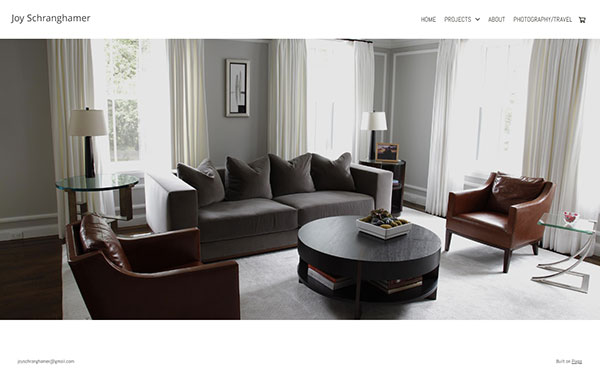 Joy Schranghamer Portfolio Website Examples