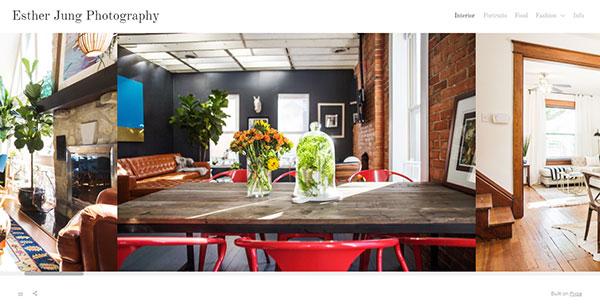 Esther Jung Portfolio Website Examples
