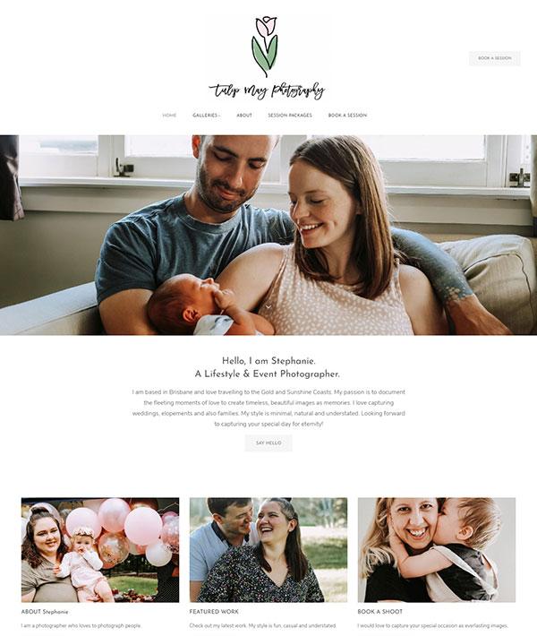 Tulip May Portfolio Website Examples