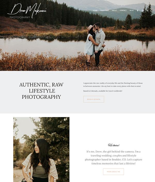 Drew Makenzi  Portfolio Website Examples