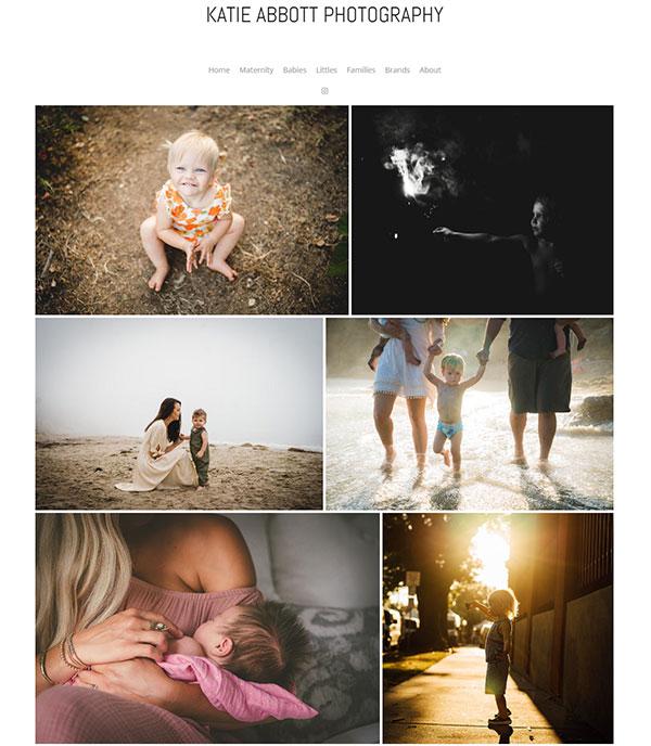 Katie Abbott Portfolio Website Examples