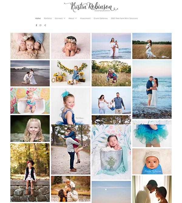 Kristin Robinson Portfolio Website Examples