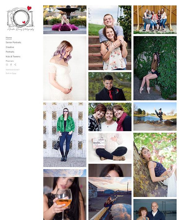 Marsha Keeney Portfolio Website Examples