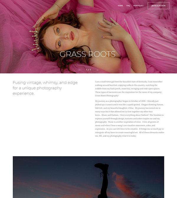 Jill Mansfield Portfolio Website Examples