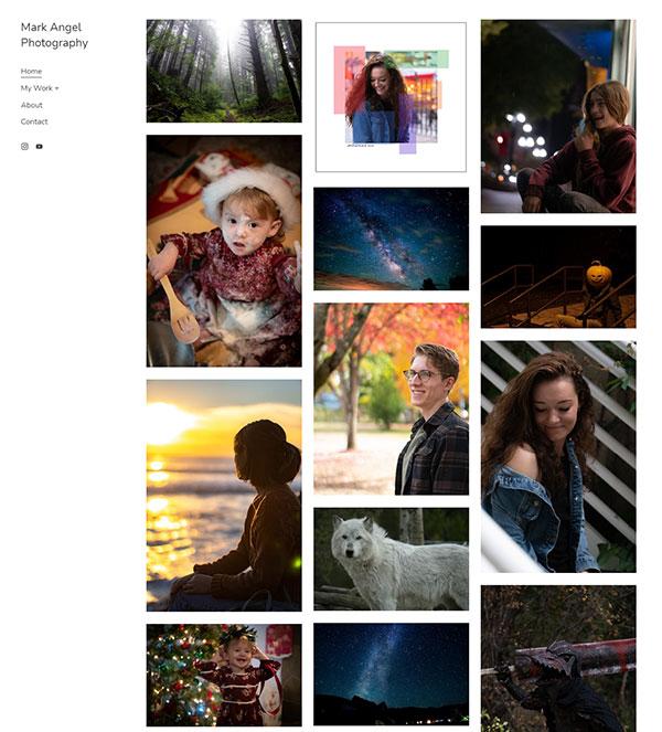 Mark Angel Portfolio Website Examples