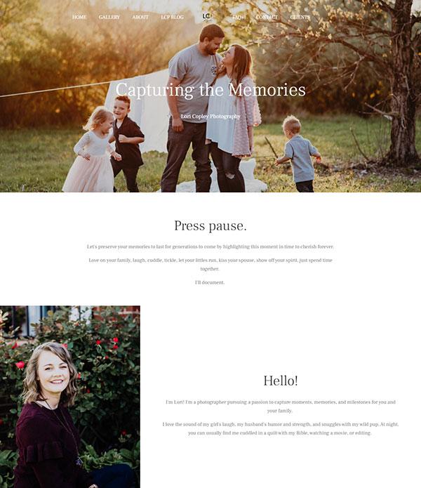 Lori Copley Portfolio Website Examples