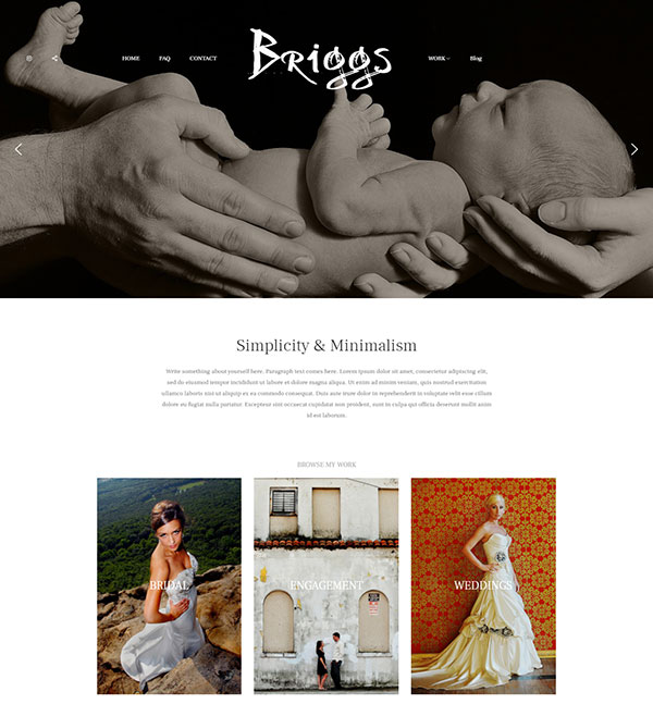 Rob Briggs Portfolio Website Examples