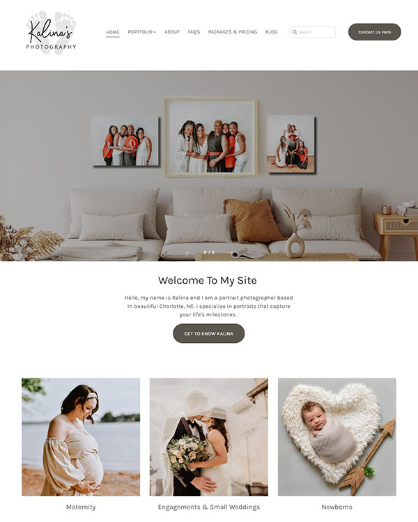 Kalina Martinez Portfolio Website Examples