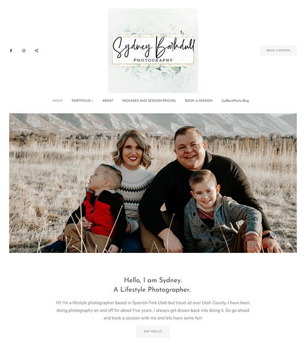 Sydney Barkdull Portfolio Website Examples