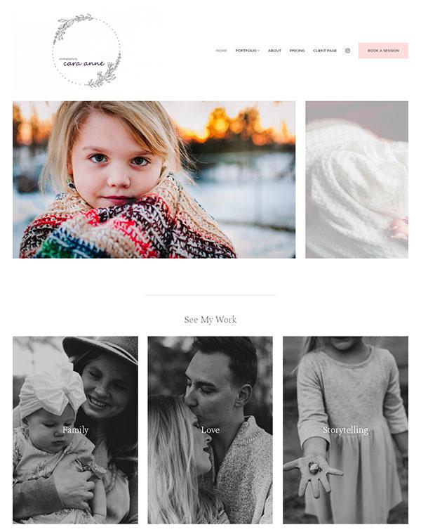 Cara Turnbull Portfolio Website Examples