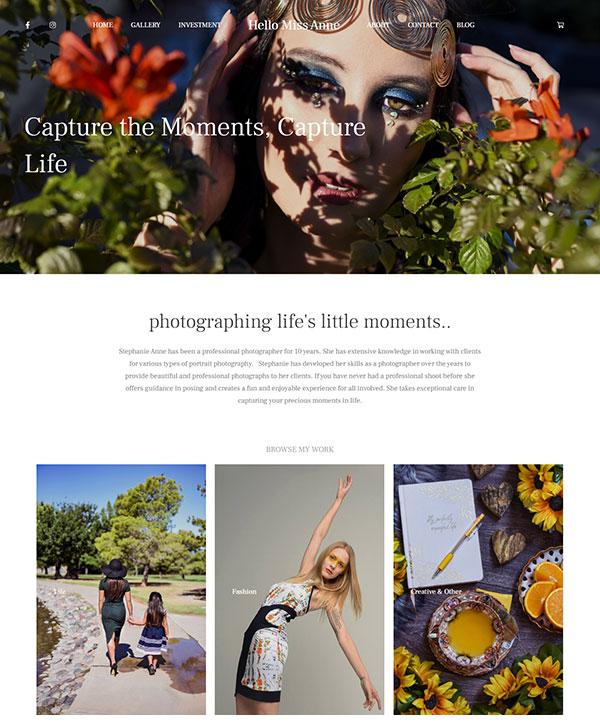 Stephanie Rodriguez Portfolio Website Examples