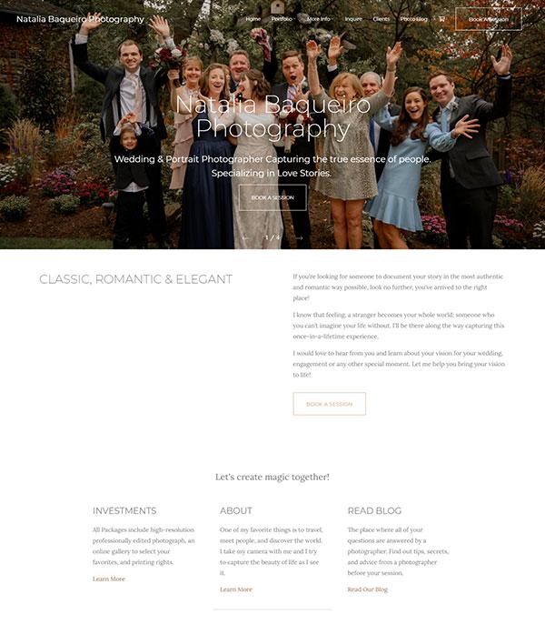 Natalia Baqueiro Portfolio Website Examples