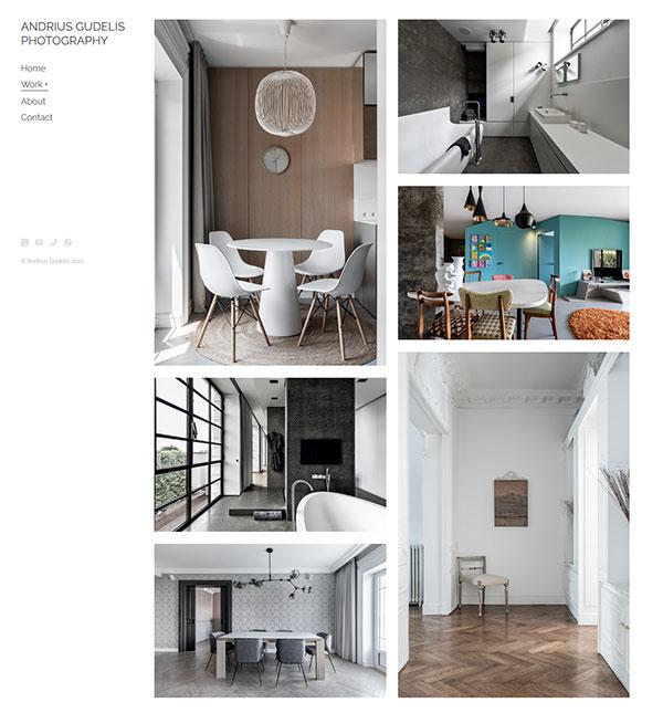 Andrius Gudelis Portfolio Website Examples