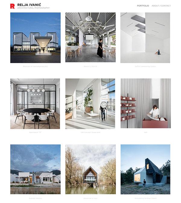Relja Ivani Portfolio Website Examples