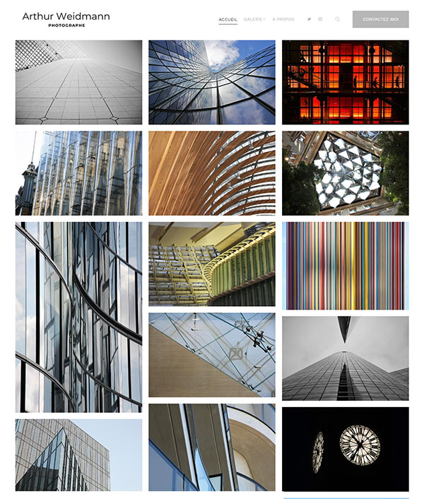 Arthur Weidmann Portfolio Website Examples