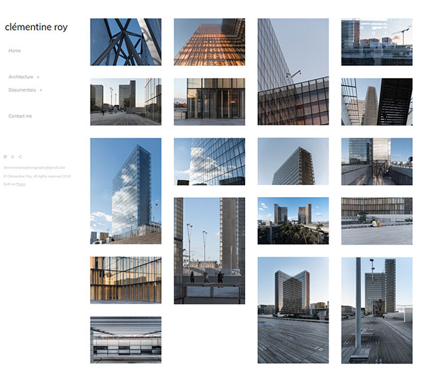 Clementine Roy Portfolio Website Examples