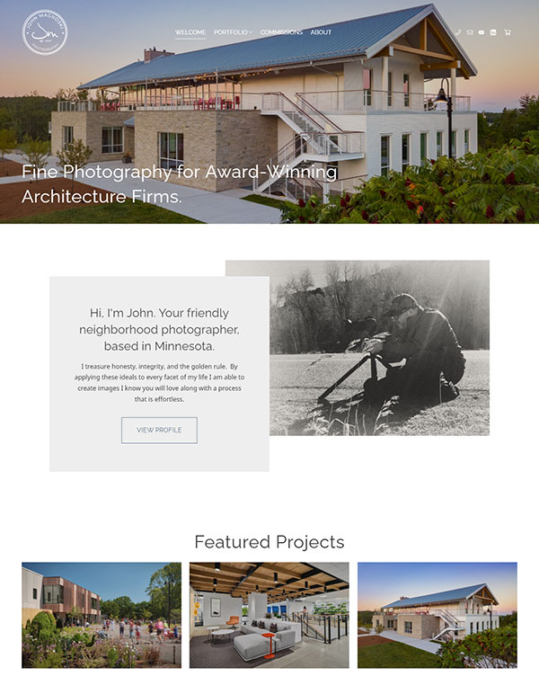 John Magnoski Portfolio Website Examples