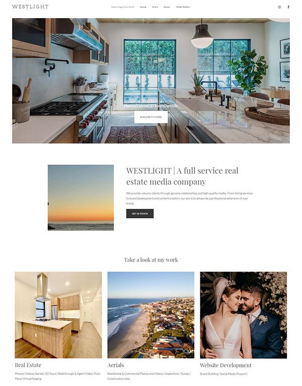 Westlight Portfolio Website Examples