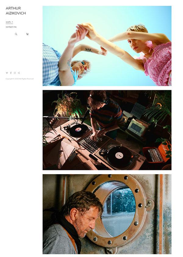 Arturs Aizikovics Portfolio Website Examples